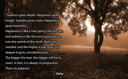 Osho quote sadness